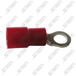 COSSE PLATE RONDE ROUGE - 3,7MM