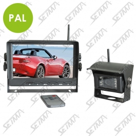 KIT ECRAN 7'' ET CAMERA INFRAROUGE IP67 - SANS FIL - 2 ENTREES VIDEO