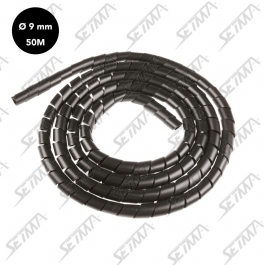 GAINE SPIRALE - 9 A 11 MM X 50 M - NOIR