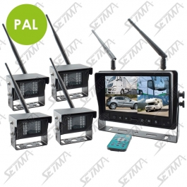 "KIT ECRAN 7"" ET 4 CAMERAS INFRAROUGES IP67 - SANS FIL"