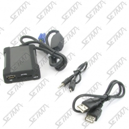 INTERFACE USB - CITROEN C1 / PEUGEOT 107 / TOYOTA AYGO - DE 2005 A 2014 - CONNECTEUR MINI-ISO