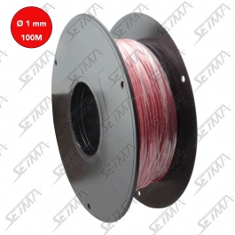 CABLE UNIPOLAIRE - ROUGE - DIAMETRE 1.00 MM2 X 100 M
