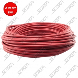 CABLE UNIPOLAIRE - ROUGE - DIAMETRE 10 MM2 X 25 M