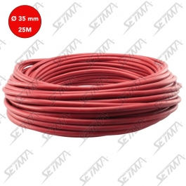 CABLE UNIPOLAIRE - ROUGE - DIAMETRE 35 MM2 X 25 M
