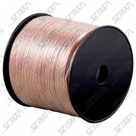 CABLE HAUT-PARLEUR - TRANSPARENT - DIAMETRE 2 X 4 MM2 - 50 M