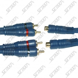 CABLE RCA/RCA - 2 MALE/1FEMELLE - DOUBLE BLINDAGE