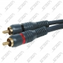 CABLE RCA / RCA MALE - DOUBLE BLINDAGE - 3 M