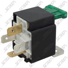 RELAIS SIMPLE 1RT - 12 V - 30 AMP + FUSIBLE