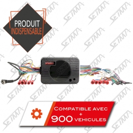 COMMANDE AU VOLANT UNIVERSELLE - CAN-BUS / ANALOGUE / GM CLASS II / IBUS / MATRIX