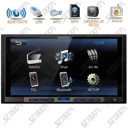 AUTORADIO KENWOOD 2 DIN MULTIMEDIA - ECRAN TACTILE 6,8'' / BLUETOOTH