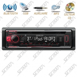 AUTORADIO KENWOOD BLUETOOTH - 1 DIN - CD /  USB