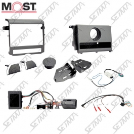 LAND ROVER DISCOVERY IV (L319) - 2009-2016 - AVEC AMPLI MOST - KIT SUPPORT AUTORADIO 2DIN + COMMANDE AU VOLANT
